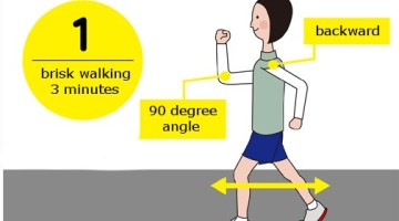 Walking correct posture technique