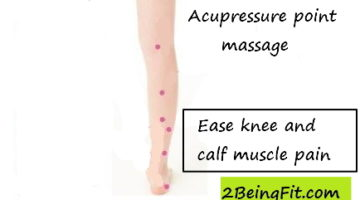 Knee pain acupressure point calf massage healing at home effective treatment to heal knee pain, swelling etc