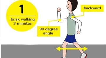 Walking correct posture technique